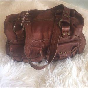 Anthropologie Lucky Penny leather handbag
